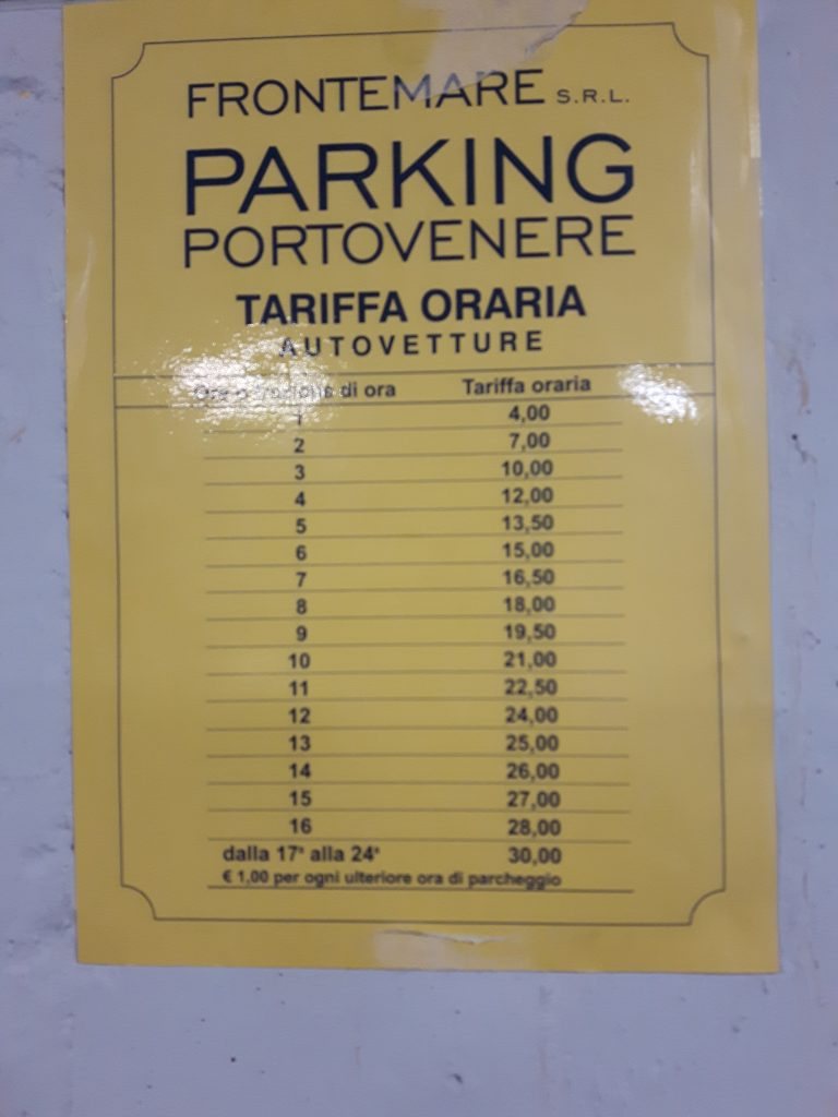 Parking in Portovenere