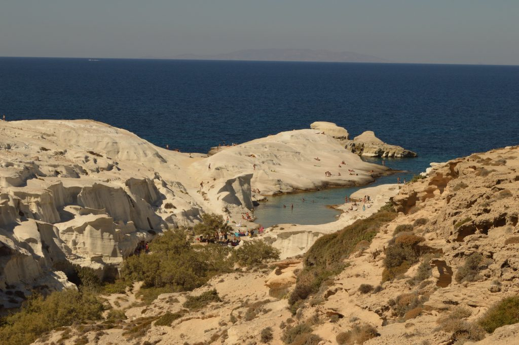 Sarakiniko white beach