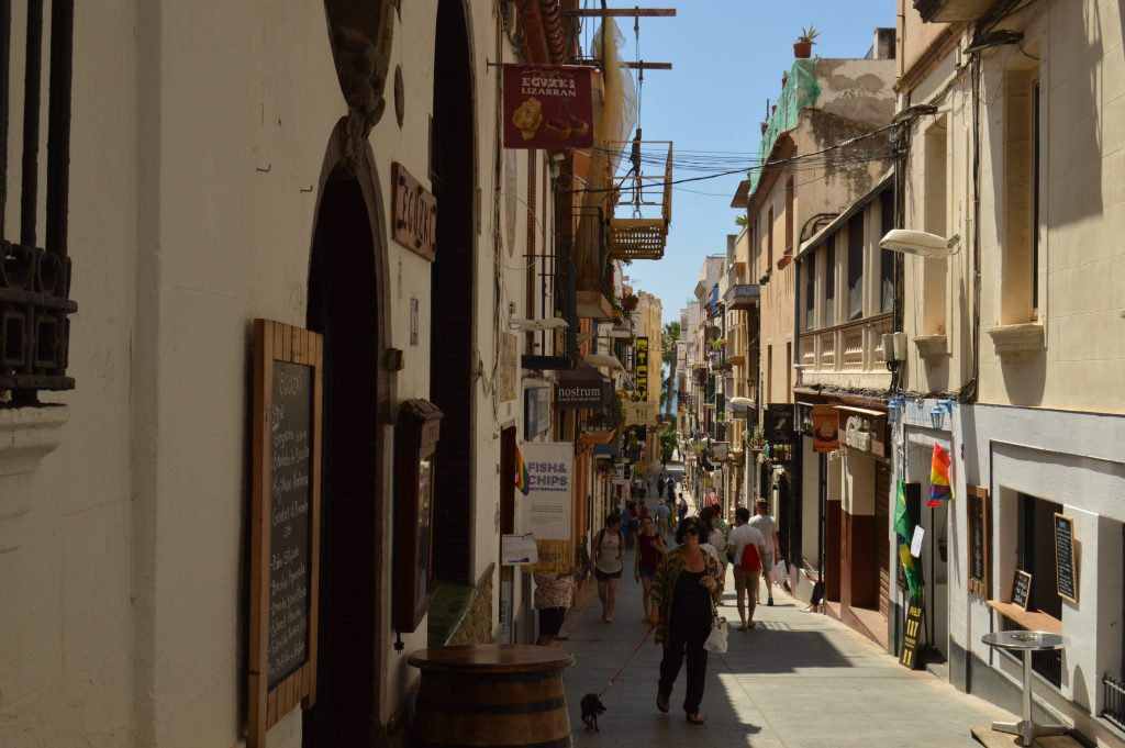 Sitges downtown