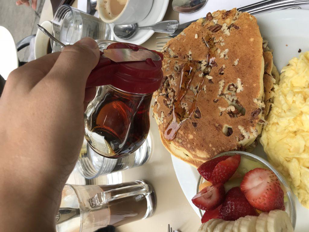 Pecan pancakes by Cloe's
