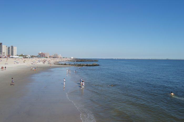 The beach of Coney Island