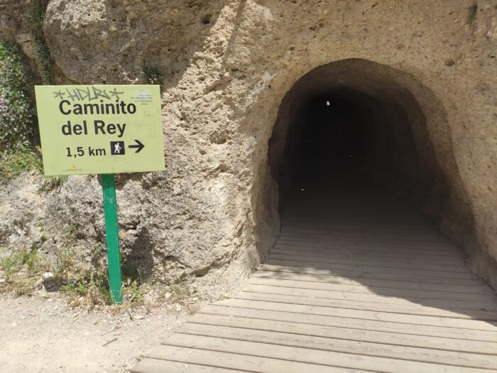 The smaller tunnel